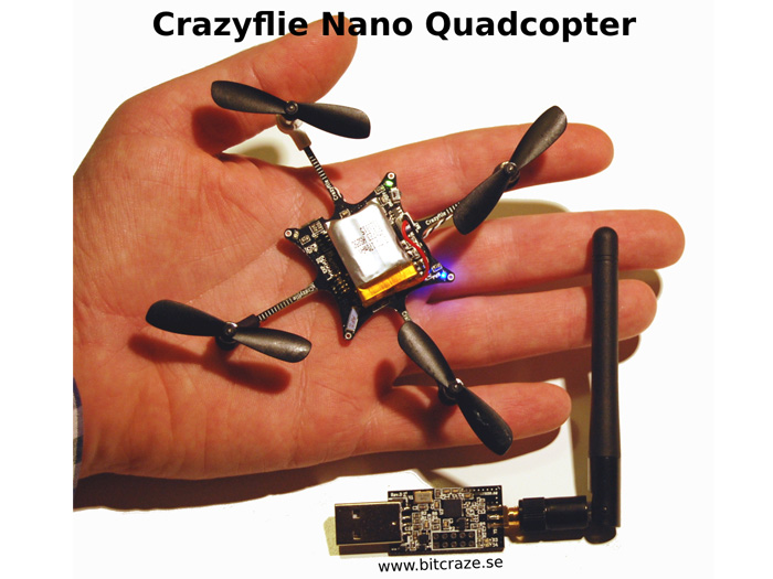 Crazyflie nano quadcopter kit dof with crazyradio bc
