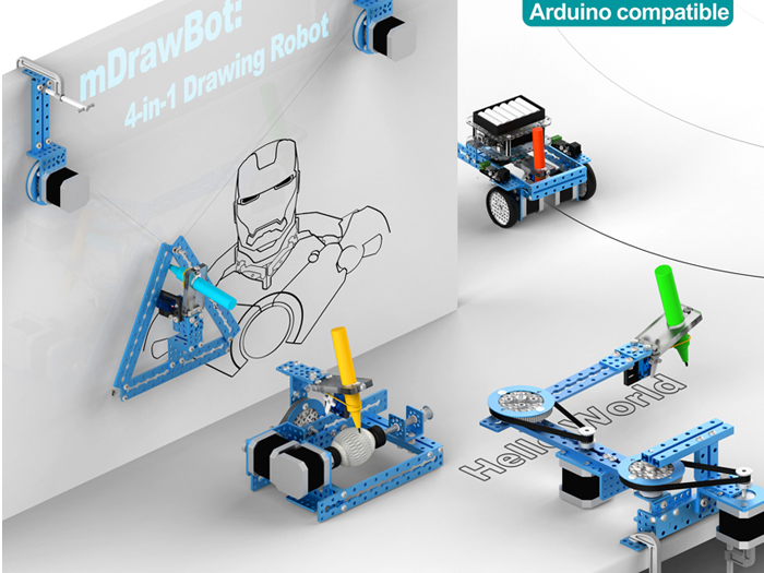mDrawBot: 4-in-1 Drawing Robot