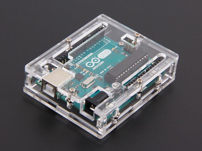 Arduino uno r acrylic enclosure clear