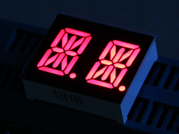 Dual Alphanumeric 14 Segment LED - Red 0.54""