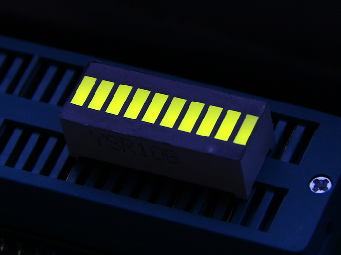 10 Segment LED - Yellow Green