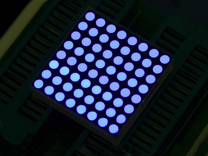 32mm 8x8 Square Matrix LED Blue - Common Anode