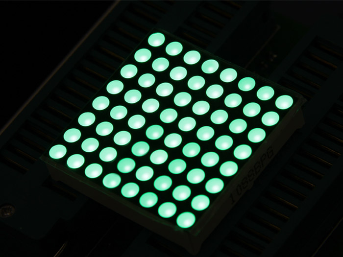 32mm 8x8 Square Matrix LED Green - Common Anode