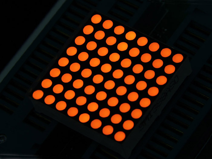 32mm 8x8 Square Matrix LED Amber - Common Anode