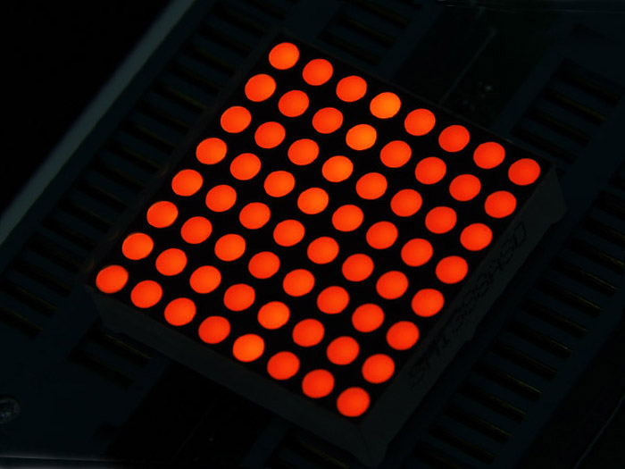 32mm 8x8 Square Matrix LED - Red Common Anode