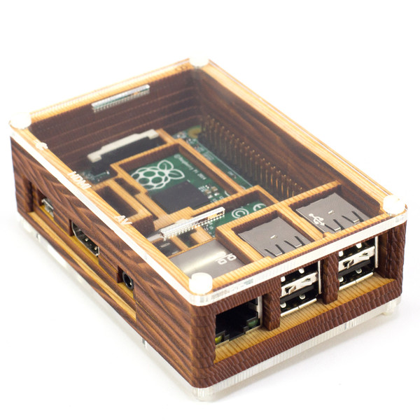 Pibow Timber Enclosure for Raspberry Pi Model B+