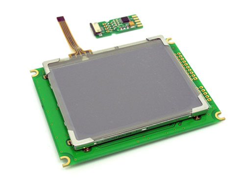 320*240 graphic LCD w Touch Screen and HW accel.
