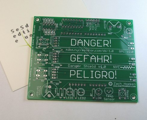 Danger Shield 1.0 PCB