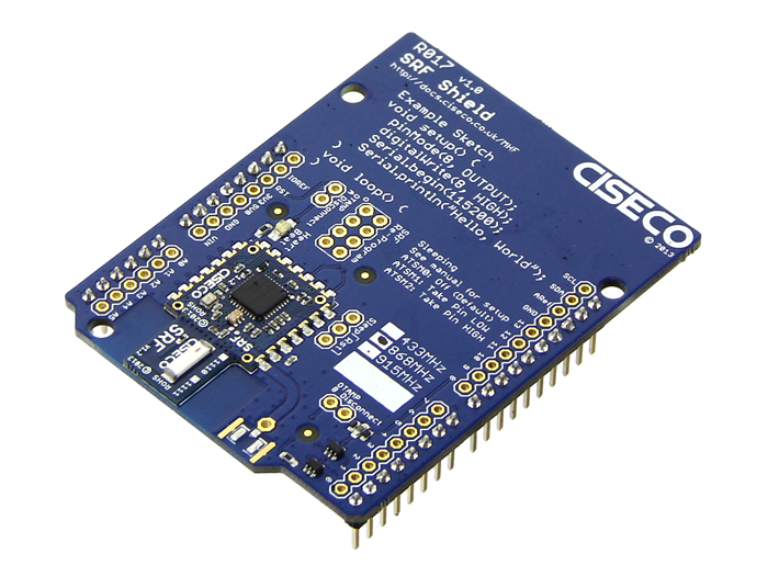SRF shield - Wireless transciever for all Arduino type boards