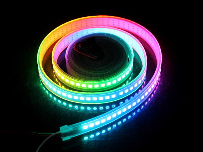 WS2812B Digital RGB LED Waterproof Flexi-Strip 144 LED&meter - 2 meter
