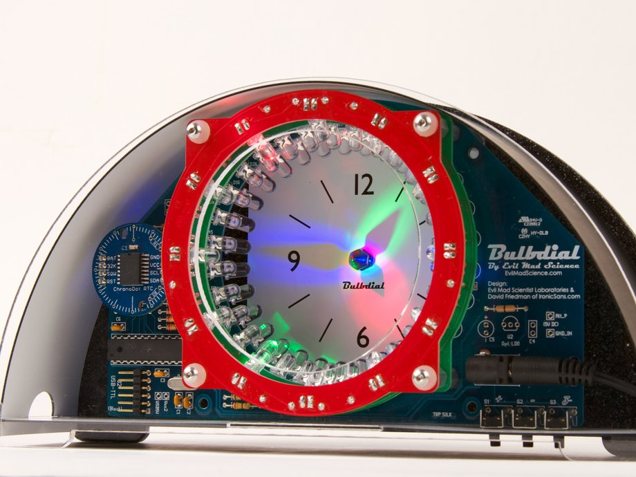 Bulbdial Clock Kit - LED desk&mantle shadow clock soldering kit