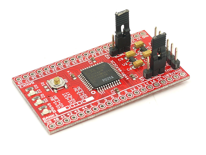 XC2C64A CoolRunner-II CPLD development board