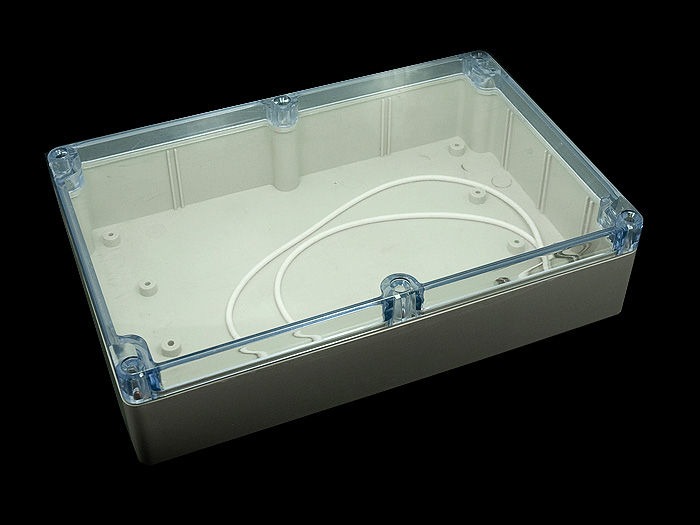 Clear Plastic Enclosure 55x145x222 mm