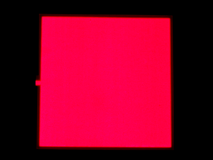 EL Panel - Red 10cm x 10cm