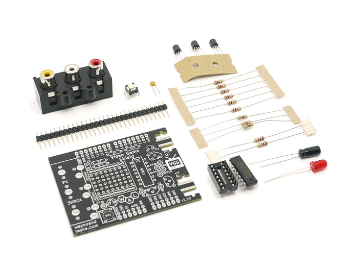 Video game shield kit components parts seeed studio