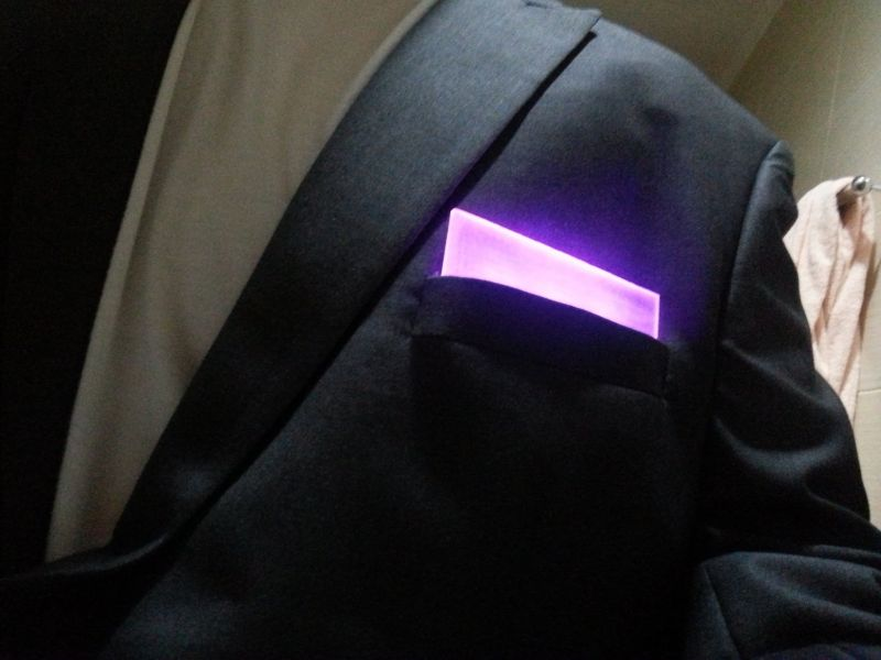 RGB POCKET SQUARE BLUETOOTH!