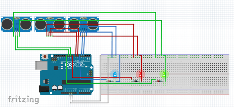 Arduino and processing interact.