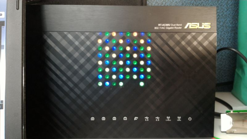 8x8 LED Matrix play background on ASUS Router