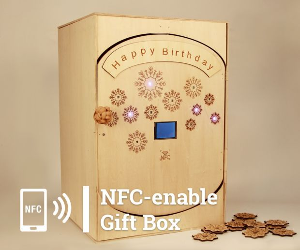 NFC-enable Gift Box for Birthday Party