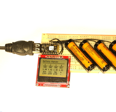 Battery Charger Based On Espruino Pico