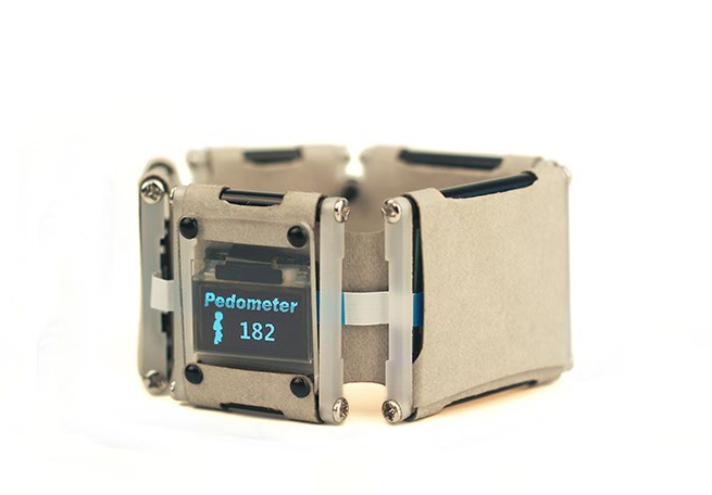 A pedometer made with paper