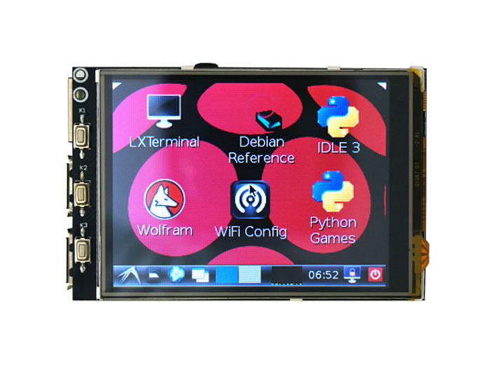 Raspberry Pi 3.2 Inch Touchscreen Display w& 8 extend headers