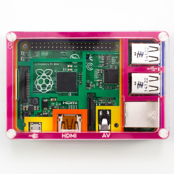 Pibow Rainbow Enclosure for Raspberry Pi Model B+