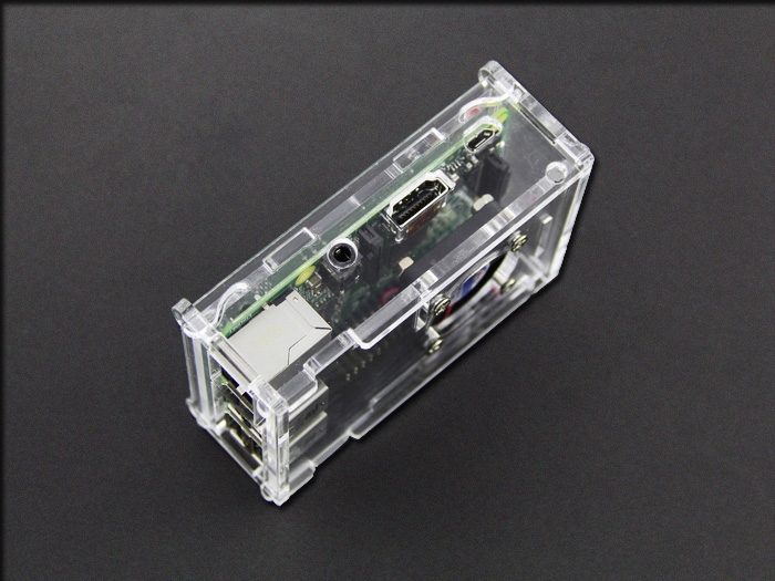 Raspberry Pi B+&2 Acrylic Enclosure w& CPU Fan