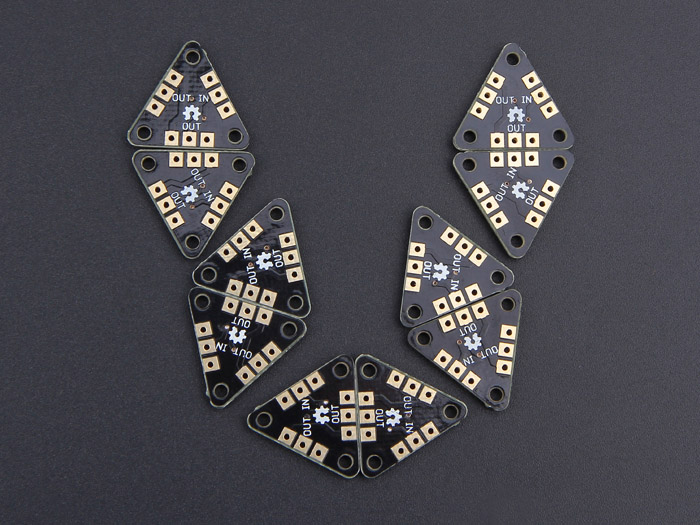 Triangle RGB LED Brick - WS2812B Breakout(10 PCs pack)