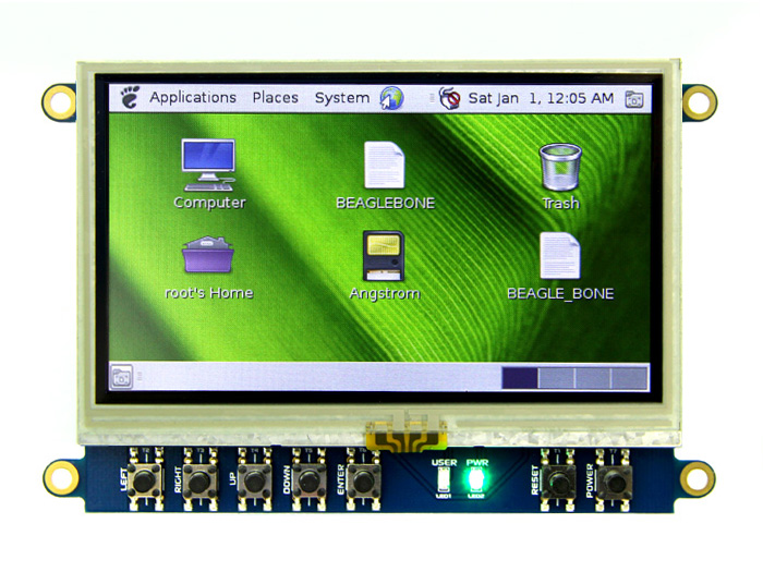 4.3 LCD Cape for BeagleBone Black - Touch Display