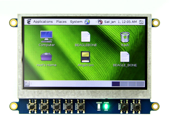 4.3 Inch LCD Cape for BeagleBone Black - Non Touch Display