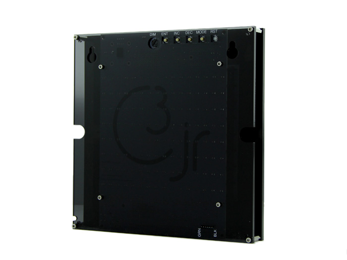 Clock THREEjr (with mirror faceplate)
