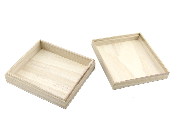 Concise Wood Case - 173x153x50 mm