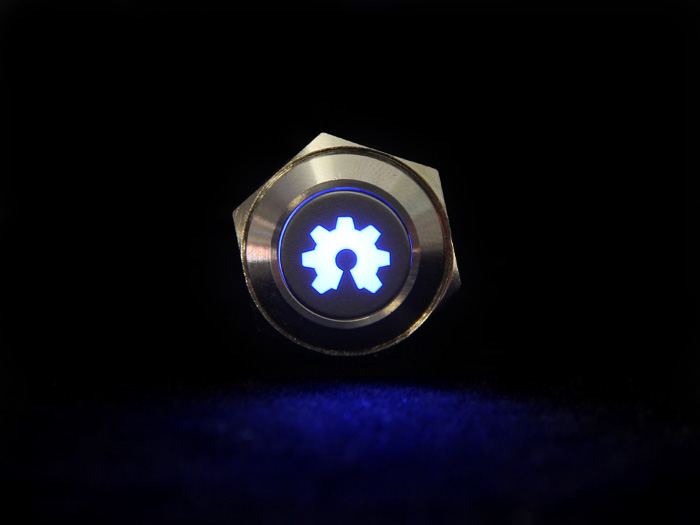 Turn On Open Hardware - Metal Push Button With OSH Logo