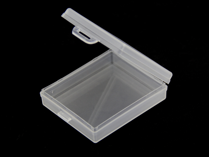 Plastic storage box - transparent small