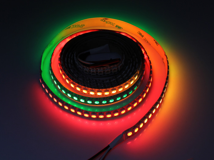 WS2812B Digital RGB LED Flexi-Strip 144 LED - 1 Meter
