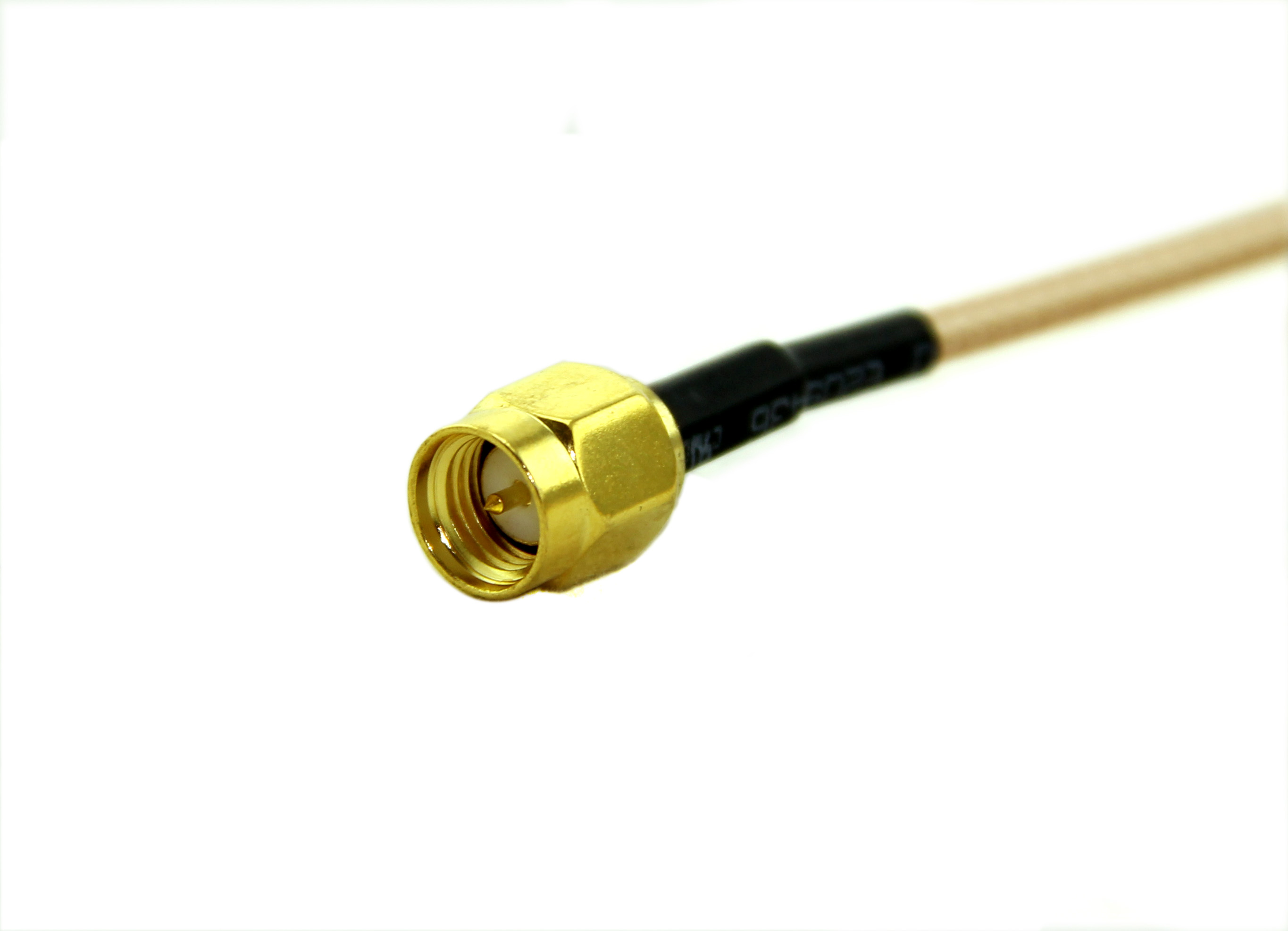 50cm length - SMA male to SMA male plug pigtail cable RG316