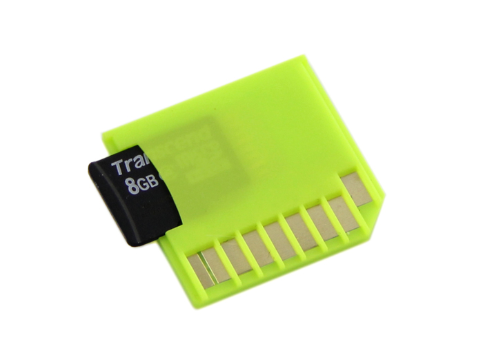 Micro SD Card Adapter for Raspberry & Macbooks - Green