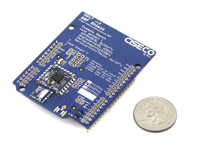 Srf shield wireless transciever for all arduino type