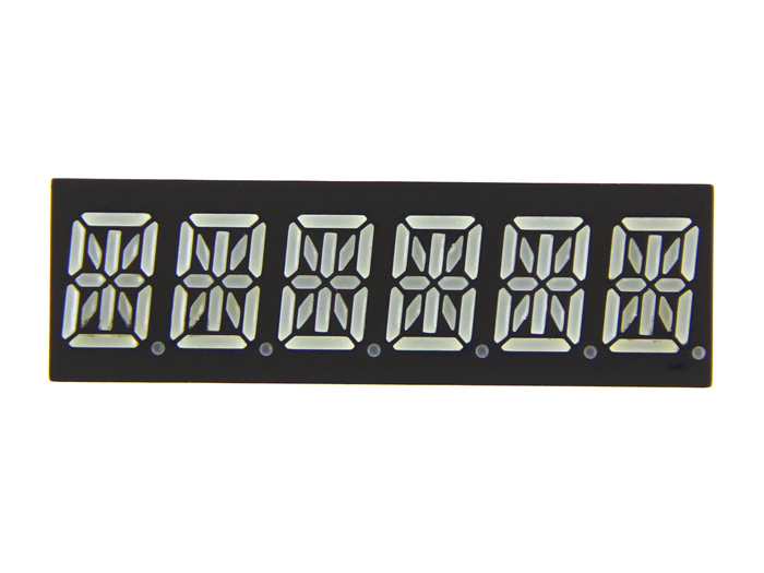 Six Alphanumeric 14 Segment LED - Red