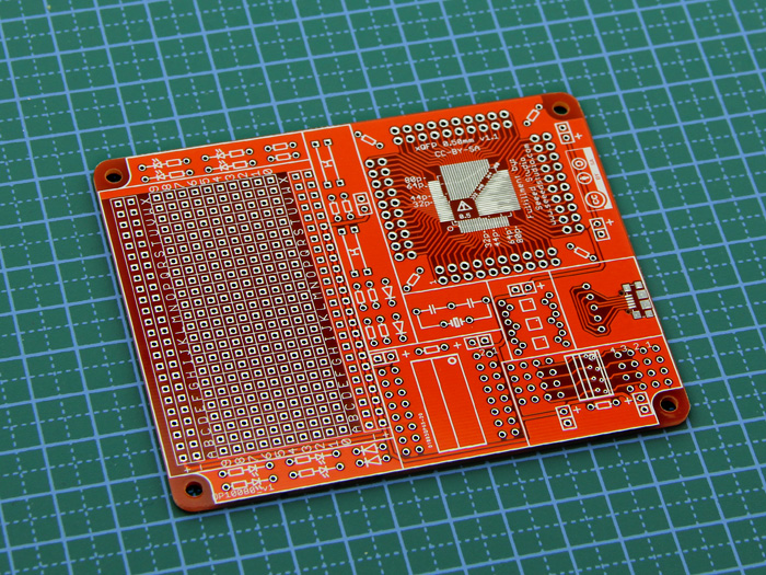 QFP surface mount protoboard - 0.80mm + 0.50mm