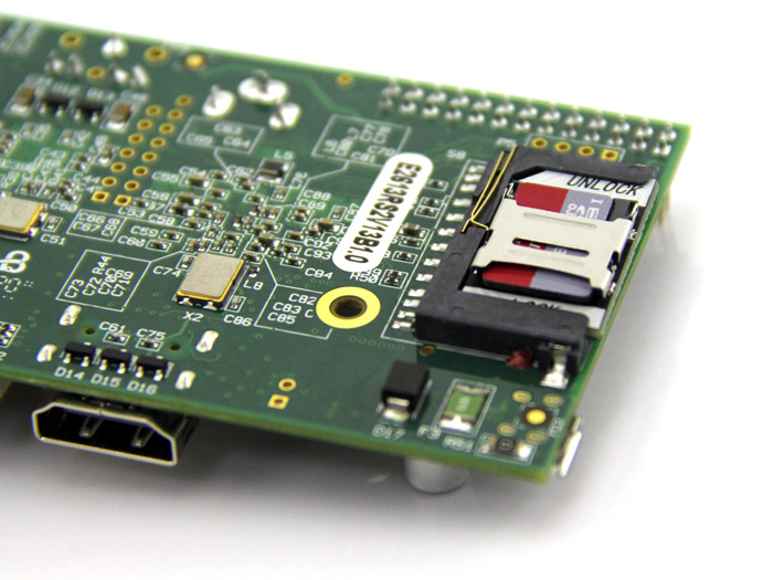 MicroSD Card Adapter for Raspberry Pi B