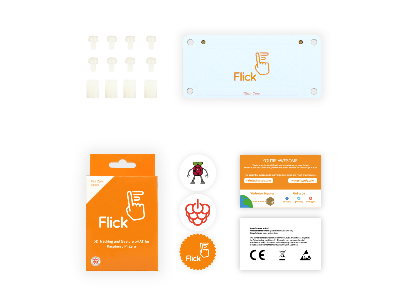 Flick Zero – 3D Tracking & Gesture pHAT for Raspberry Pi Zero