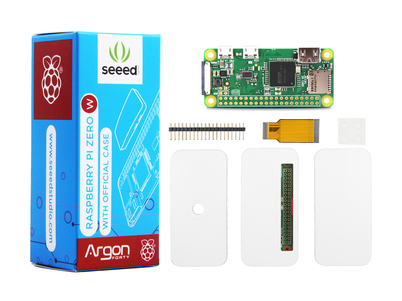 Seeedstudio Raspberry Pi Zero W With Official Case Kits Seeed Studio