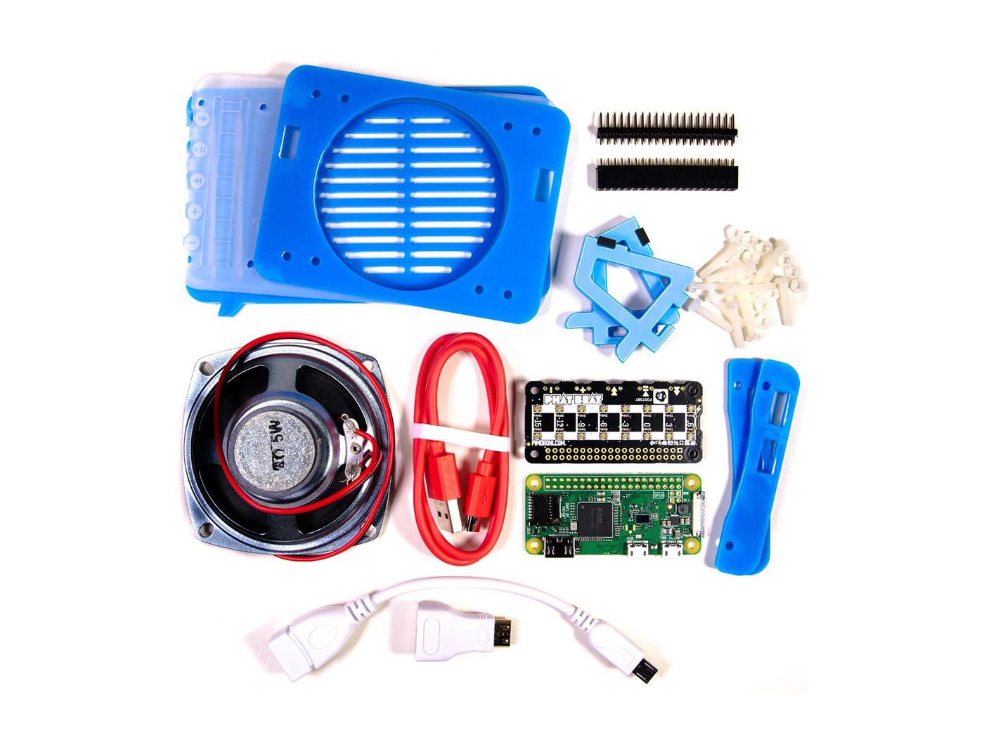 Pimoroni Pirate Radio - Pi Zero W Project Kit-Build your very ow