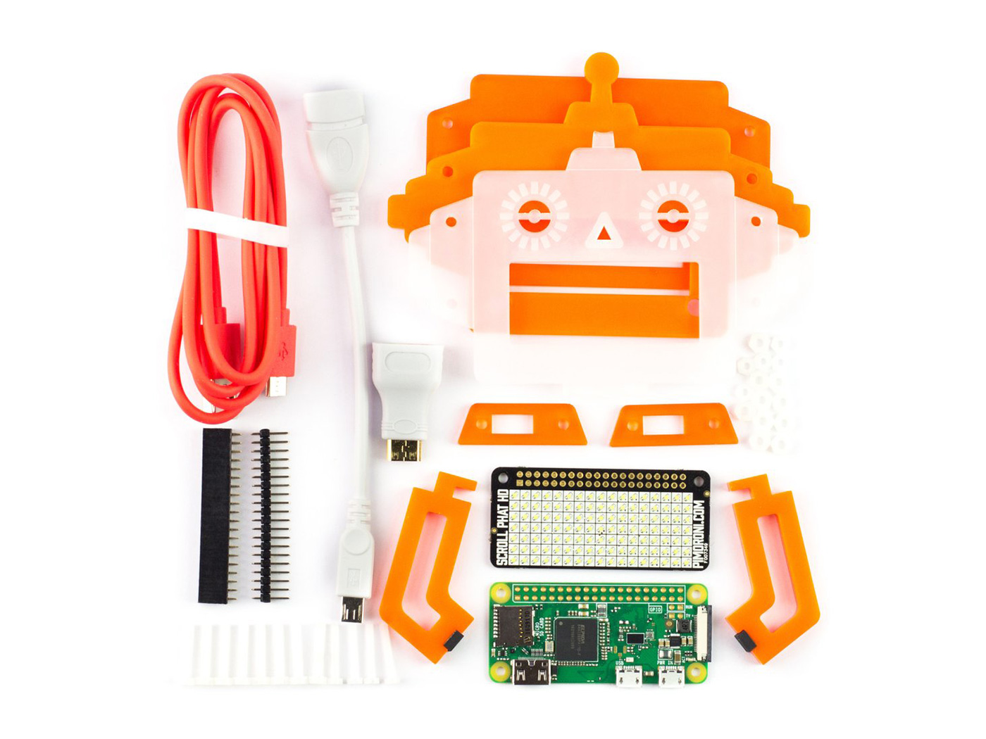 pimoroni scroll bot pi zero w project kit kits seeed studio