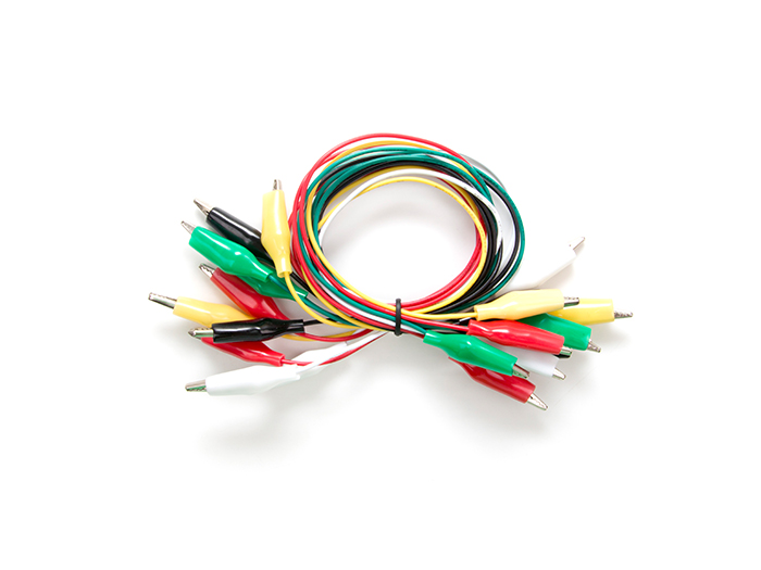10pcs Alligator Clip Test Lead  500mm - 22AWG