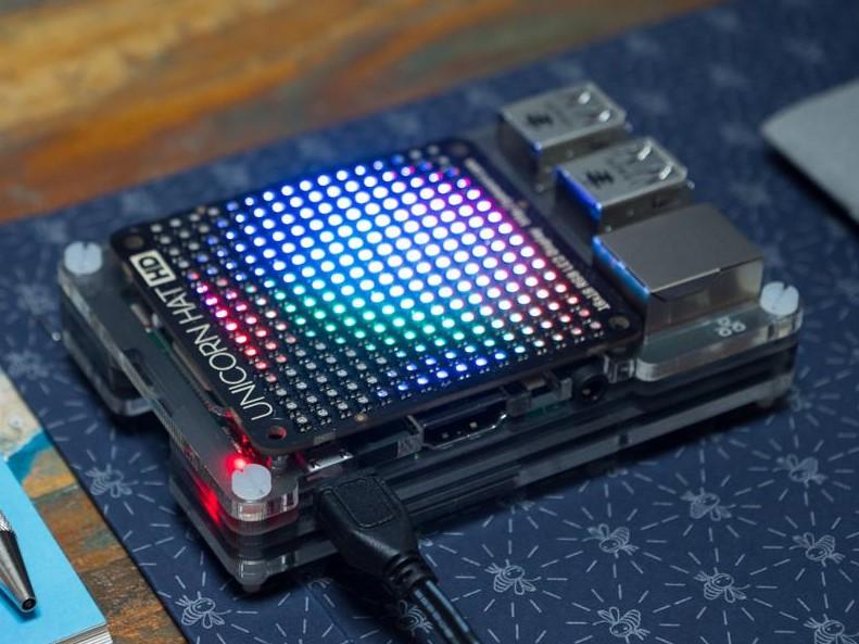 Pimoroni Unicorn HAT HD - 256 RGB LED pixels in a 16x16 matrix