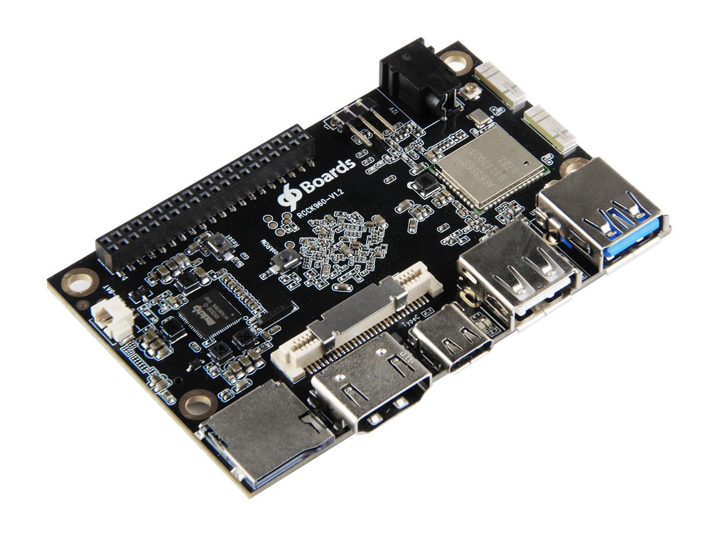 Rock960 Board - Based on the RK3399 SoC - 4GB RAM Version