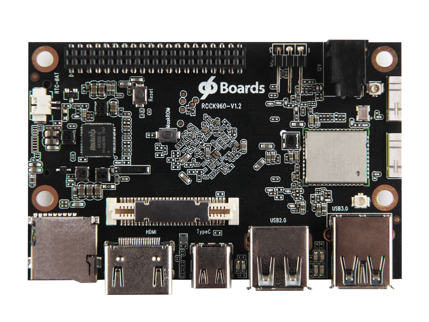 Rock960 Board - Based on the RK3399 SoC - 4GB RAM Version - 96Boards